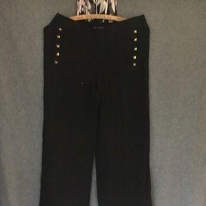Zara Women Full Leg Trouser w/ Gold Studs